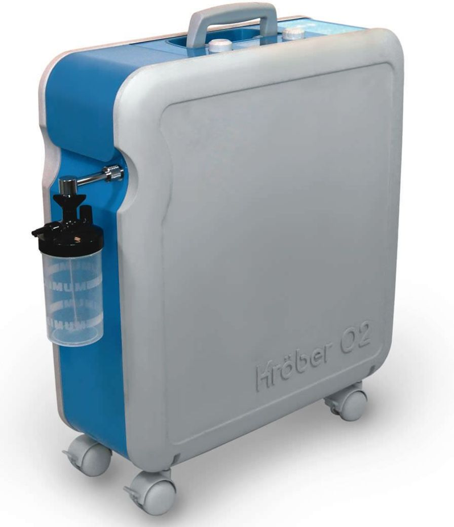 Oxygen concentrator / on casters Kröber O2 HEYER Medical