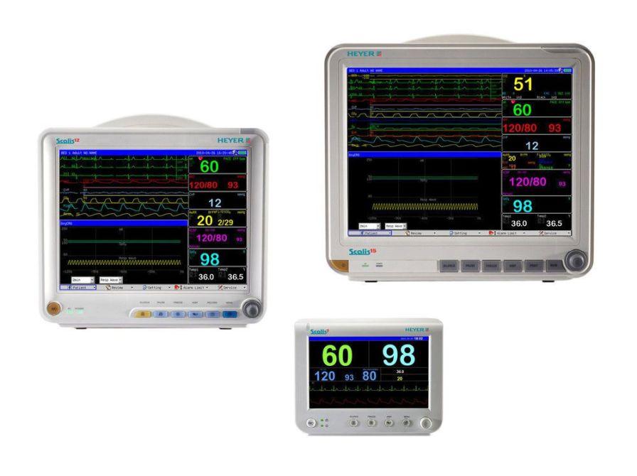 SpO2 multi-parametric monitor / NIBP / Oxy-CRG / ECG Scalis HEYER Medical