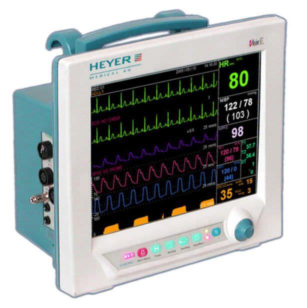"Compact multi-parameter monitor / transport 12.1"" TFT | VizOR 12 HEYER Medical"