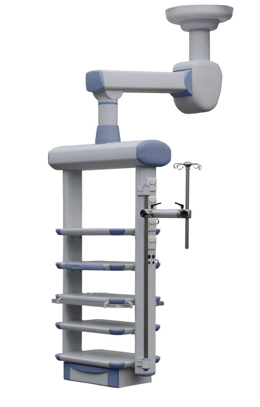 Ceiling-mounted medical pendant / motorized / articulated / single-arm YDT-QJ-2 Hunan taiyanglong medical