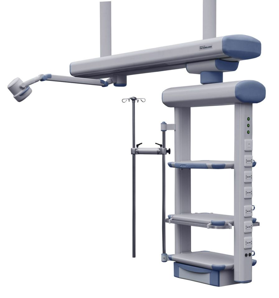 Ceiling-mounted bridge type pendant / with shelves / ICU YDT-SDQ-1 Hunan taiyanglong medical