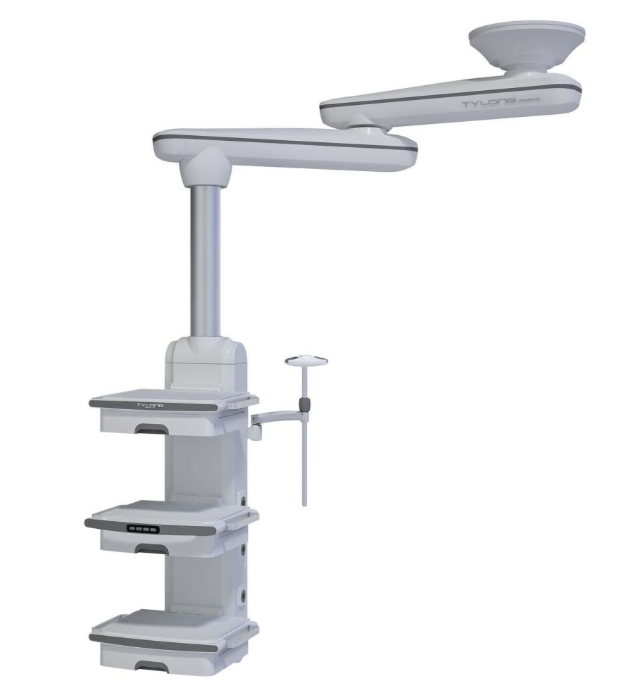 Ceiling-mounted medical pendant / articulated / double-arm / with column YDT-QJ-1. Hunan taiyanglong medical