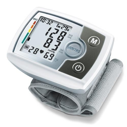 Automatic blood pressure monitor / electronic / wrist SANITAS SBM 03 Hans Dinslage