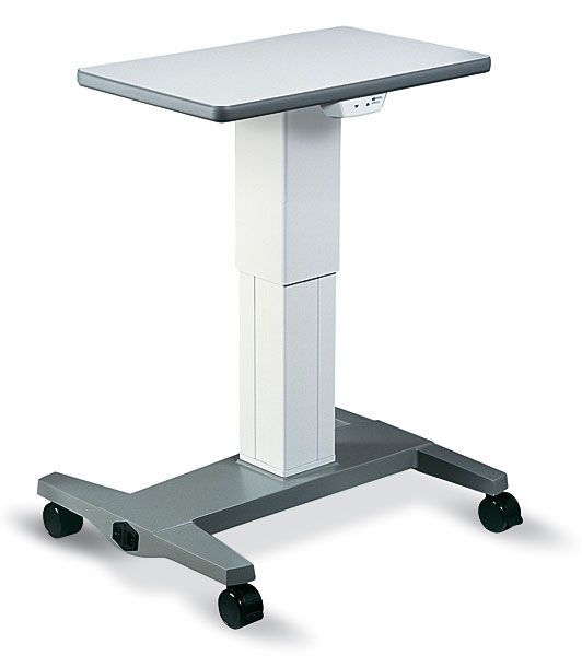 Electric ophthalmic instrument table / height-adjustable / on casters HSM-801 Haag-Streit Diagnostics