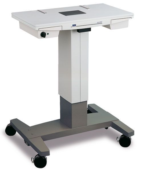 Electric ophthalmic instrument table / height-adjustable / on casters HSM-901 Haag-Streit Diagnostics