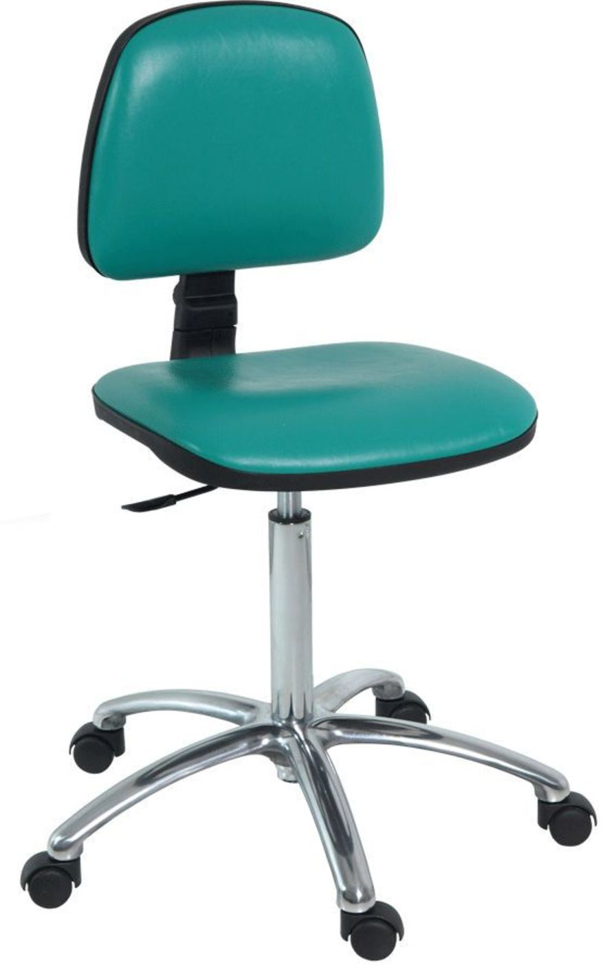 Medical stool / height-adjustable / on casters / with backrest 500 mm - 700 mm | H-193 Hidemar