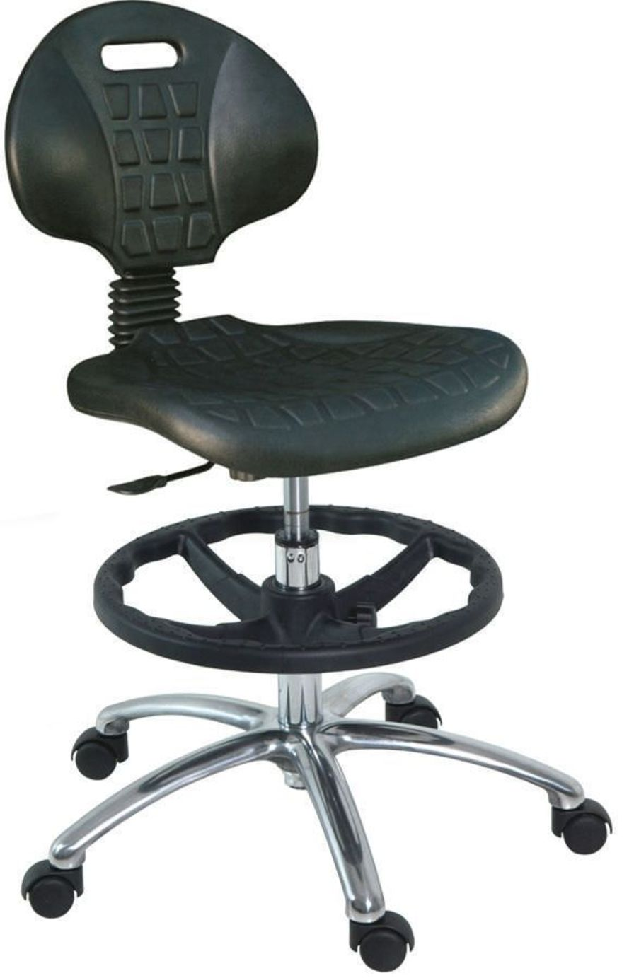 Medical stool / on casters / height-adjustable / with backrest H-196 Hidemar