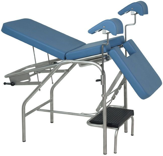 Gynecological examination table / fixed / 3-section H-02 Hidemar