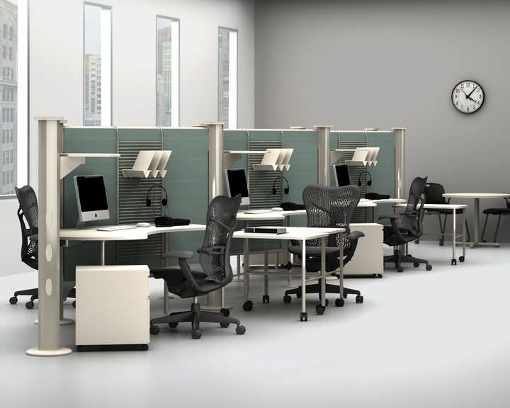 Modular office / for healthcare facilities Resolve System Herman Miller