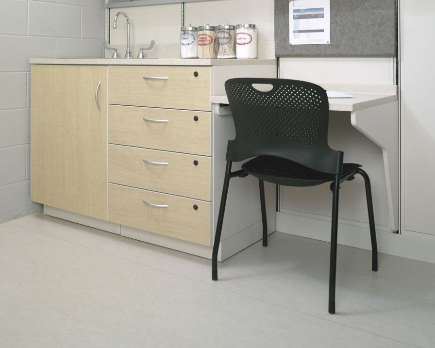 Healthcare facility worktop / with storage unit / modular Casework Herman Miller