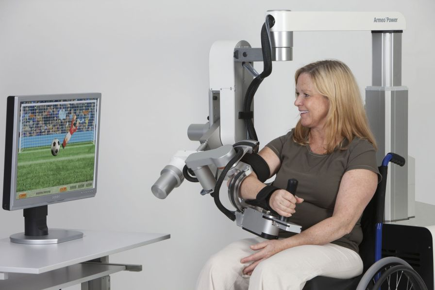 Arm rehabilitation system / hand / computer-based ARMEO® POWER Hocoma