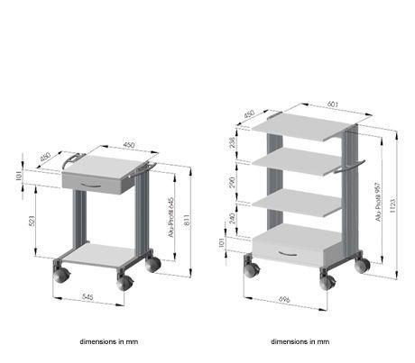 Treatment trolley / with drawer / 2-tray swingo®, swingo® clinic HAEBERLE