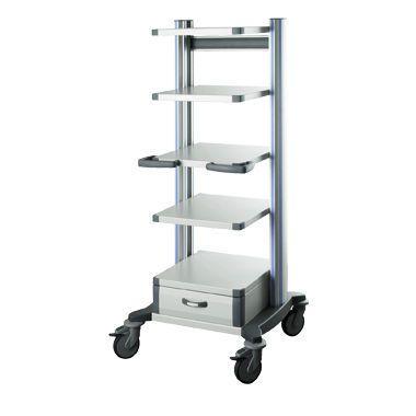 Medical device trolley / 4-tray toro HAEBERLE