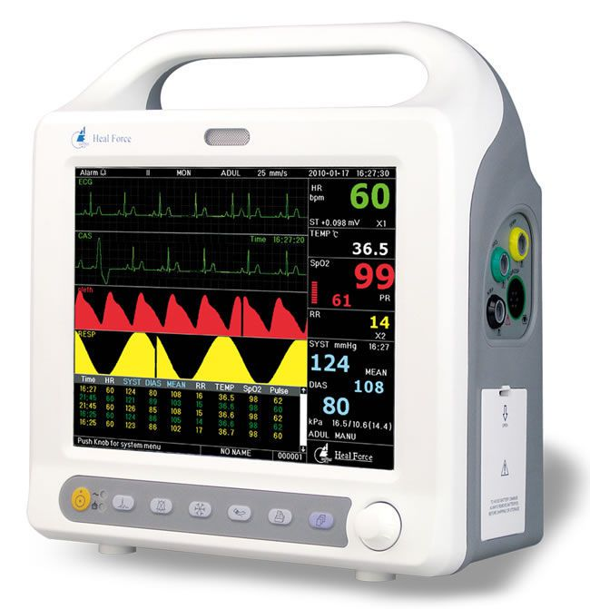 Compact multi-parameter monitor / transport 14.1"