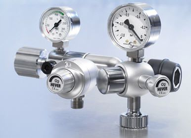 Oxygen flowmeter / with pressure regulator 0 - 15 L/mn, 200 bar | 410-0167 Heyer Aerotech