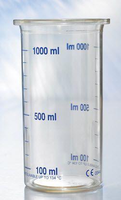 Medical suction pump jar 1 L | 553-3800 Heyer Aerotech