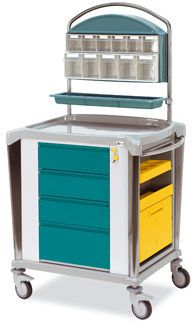 Medicine distribution trolley / stainless steel 816261 Gamma Poliuretani