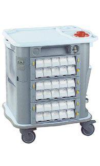 Medicine distribution trolley / 25 to 34 container CP-M27 Gamma Poliuretani