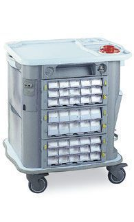 Medicine distribution trolley / 35 to 44 container CP-M40 Gamma Poliuretani