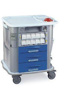 Medicine distribution trolley / 1 to 14 container CP-M10 Gamma Poliuretani
