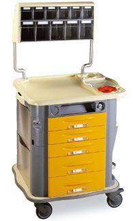 Medicine distribution trolley / with drawer CP-MED2 Gamma Poliuretani