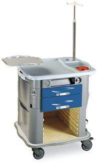 Emergency trolley / with defibrillator shelf / with IV pole CP-EM1 Gamma Poliuretani