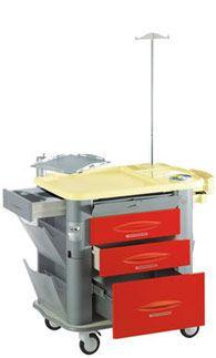 Emergency trolley / with defibrillator shelf / with IV pole MG-EM2 Gamma Poliuretani