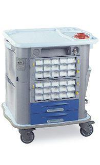 Medicine distribution trolley / 25 to 34 container CP-M30 Gamma Poliuretani