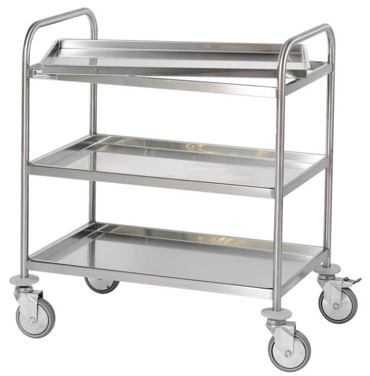 Service trolley / 3-tray C2P000-06-4 Francehopital