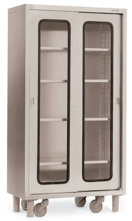 Storage cabinet / operating room / on casters / stainless steel ARMADI Francehopital