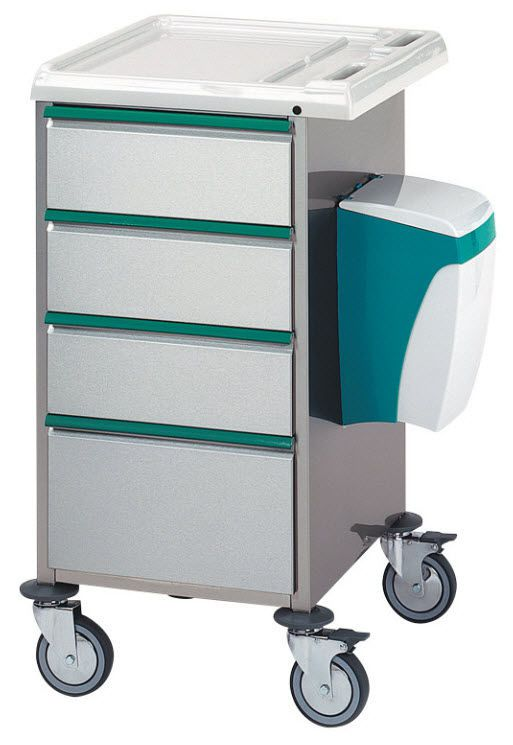 Treatment trolley / with drawer PC3 Francehopital