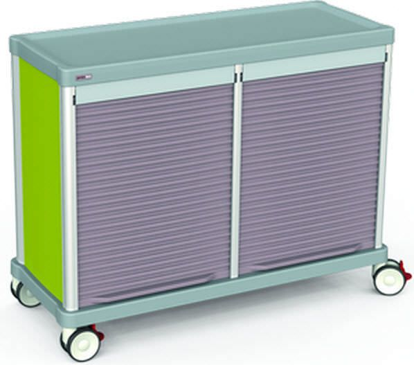 Storage trolley / with tambour door TRS110D Francehopital