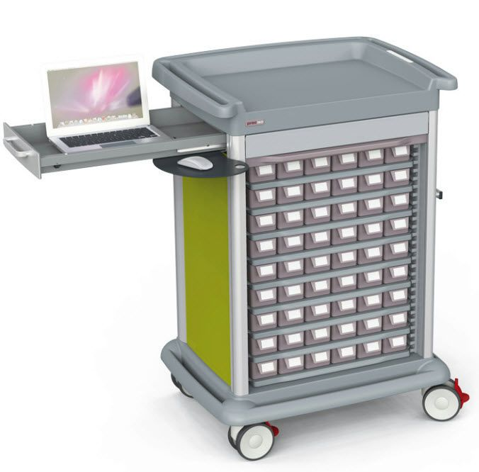 Medicine distribution trolley / 45 to 54 container PRECISO Francehopital
