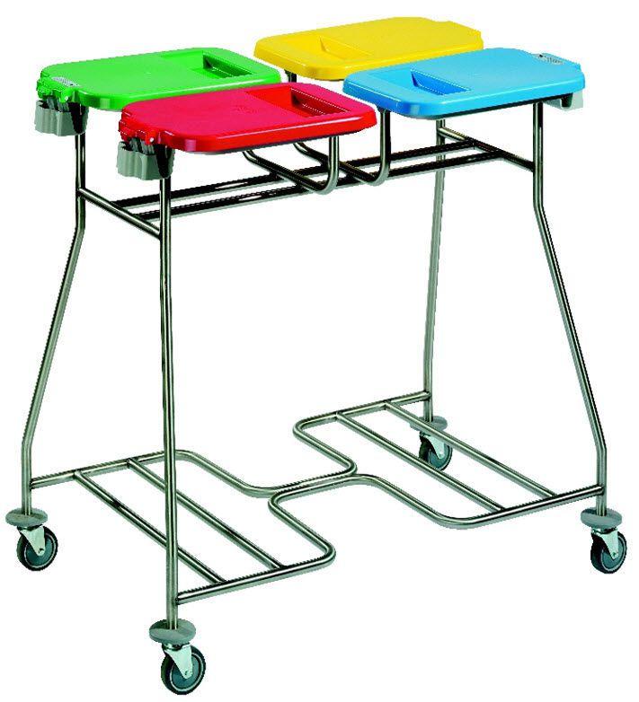 Dirty linen trolley / 4-bag CB 40 - CB40P Francehopital