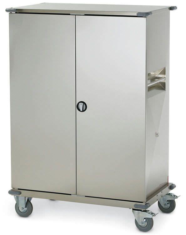 Clean linen trolley / 2-door / with shelf CT200 Francehopital