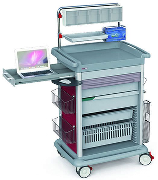 Intensive care trolley / with drawer PRECISO Francehopital