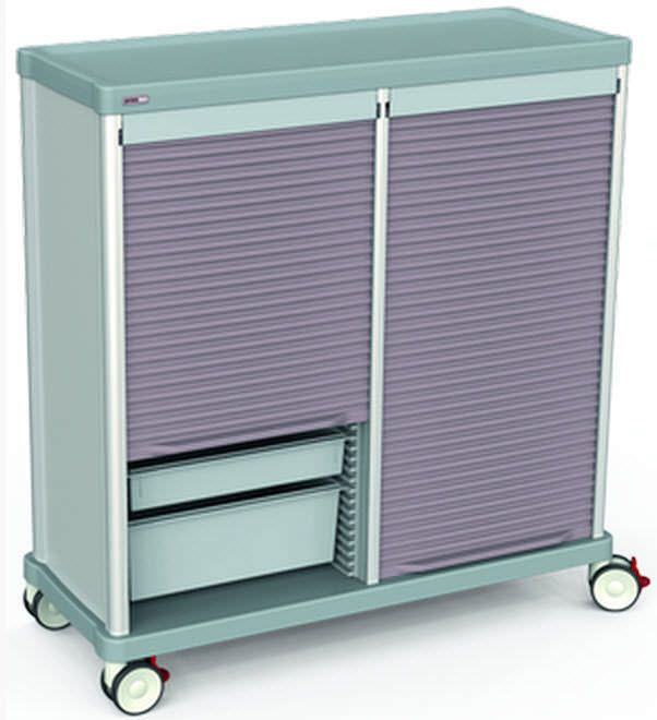 Storage trolley / with tambour door TRS140D Francehopital