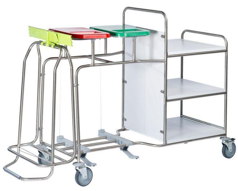 Clean linen trolley / dirty linen / with shelf / 3-bag CBPXW, CBPXPW Francehopital