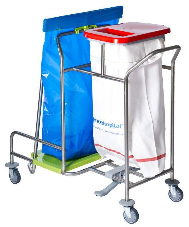 Linen trolley / 2-bag CBW10 - CBW10P Francehopital