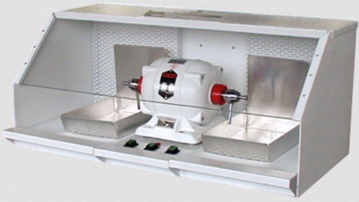 Dental laboratory polishing lathe with vacuum cleaner 575 Handler MFG. Co., Inc.- Red Wing Int'l