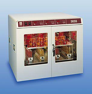 Laboratory incubator shaker 8 °C ... 70 °C, 150 L, 10 - 250 rpm | 3033 GFL Gesellschaft für Labortechnik