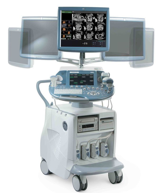 Ultrasound system / on platform / for gynecological and obstetric ultrasound imaging Voluson E6 GE Healthcare