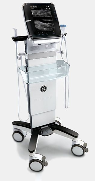 Protable, ultrasound system on trolley / for multipurpose ultrasound imaging / touchscreen Venue 40 GE Healthcare
