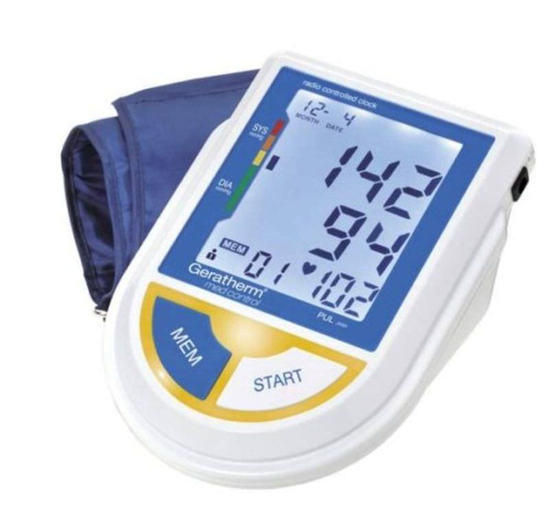 Automatic blood pressure monitor / electronic / arm med control Geratherm