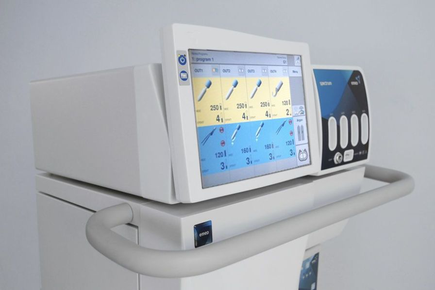 HF electrosurgical unit with touchscreen 333 KHz | Spectrum EMED