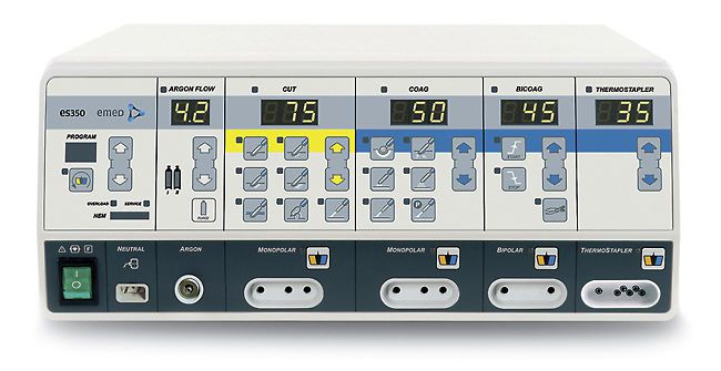 Monopolar cutting HF electrosurgical unit / bipolar coagulation / monopolar coagulation / argon plasma coagulation 333 kHz | es 350 Argon ThermoStapler® EMED