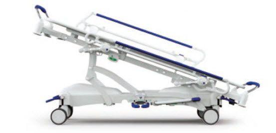 Transport stretcher trolley / X-ray transparent / height-adjustable / hydraulic Gardhen Bilance