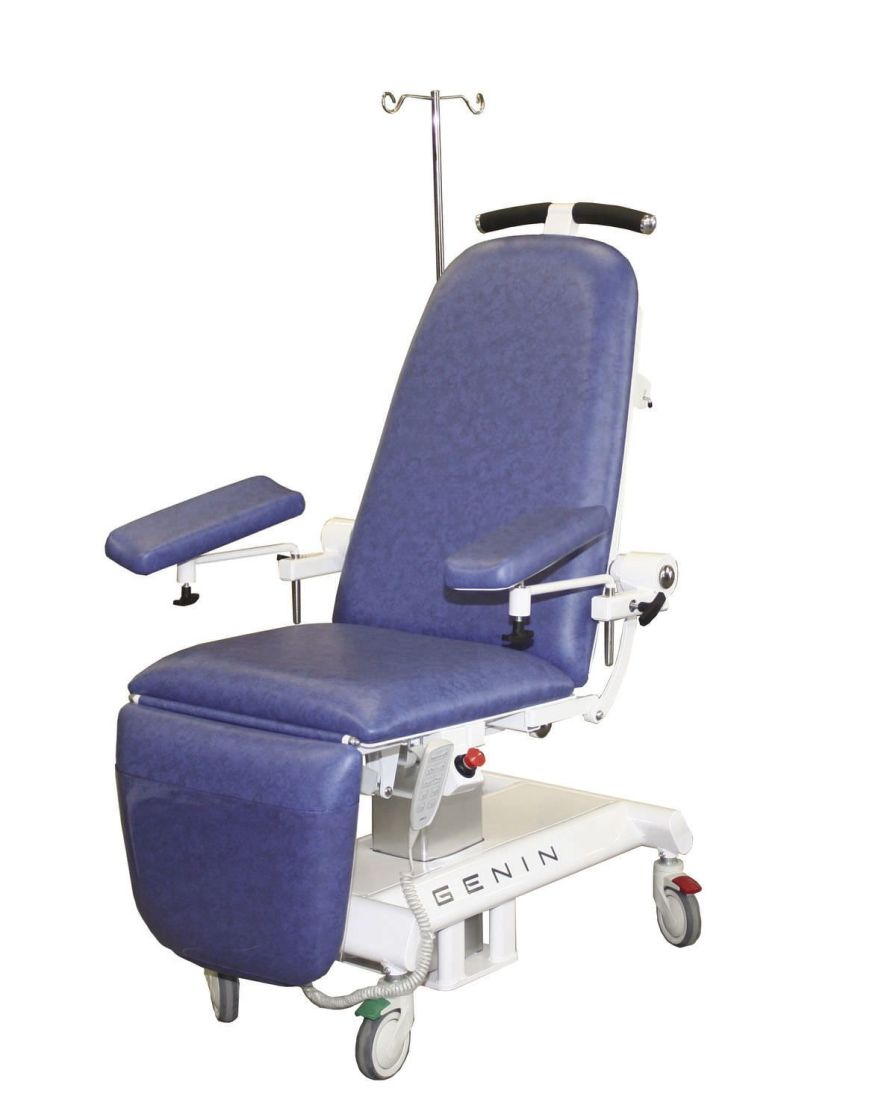 Height-adjustable blood donor chair / electrical / on casters / 3 sections SANTEO Genin Medical