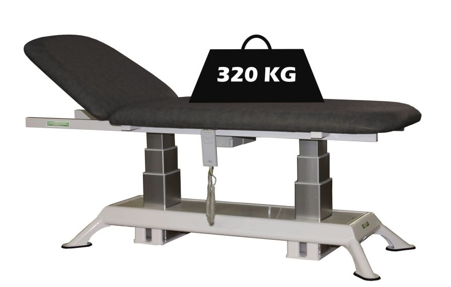 Electrical examination table / height-adjustable / 2-section / bariatric Genin Medical