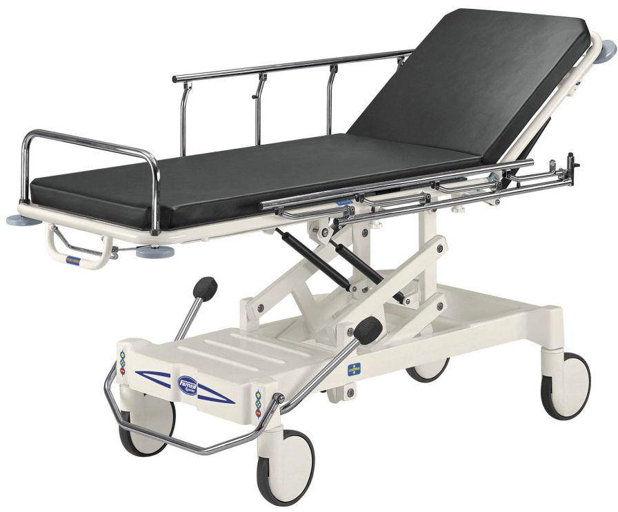 Transfer stretcher trolley / transport / height-adjustable / X-ray transparent WP-02.0 Famed ?ywiec sp. z o.o.